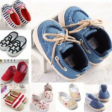 New Toddler Infant Kids Baby Girl Boys Crib Shoes Loafers Prewalker Sneakers