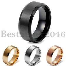 Comfort Fit Cool Simple Stainless Steel Mens Wedding Promise Ring Band Size 5-14