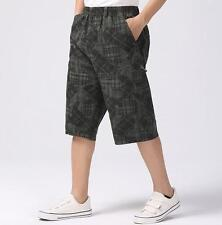Mens loose plaid camo plus size casual shorts outdoor overalls summer pants