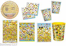Emoji Official Face Smiley Tableware Birthday Party Supplies Kids Adults Teens
