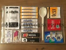 British Army 24hr Ration Sundries Accessory Pack - Brew Kit Spork Water Tabs MRE