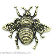 Wholesale Lots Craft Embellishments Findings Cabochon Bee Bronze Tone 4x3.7cm