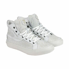 Diesel S-Kwaartzz Mens White Textile & Leather High Top Sneakers Shoes