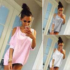 Short Sleeve Sexy Women Stylish Hollow Out Irregular Tops T-Shirts O Neck C