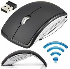 US 2.4GHz Wireless Arc Foldable Folding Optical Usb Cordless Mouse for Laptop PC
