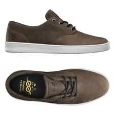 Emerica Shoes Romero Laced x Eswic Brown Premium Leather USA Skateboard Shoes