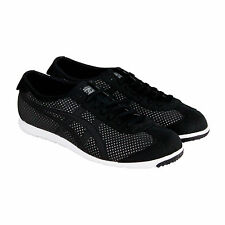 Onitsuka Tiger Rio Runner Mens Black Nylon Lace Up Sneakers Shoes