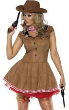 Ladies Sexy Fever Wild West Cowgirl Fancy Dress Costume
