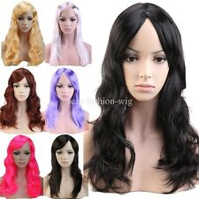 Women Ladies Long Full Wig Straight Curly Fancy Dress Wigs Play Costume Party 81