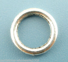 Wholesale Mixed Lots Silver Tone Soldered Closed Jump Ring 8mm Dia.