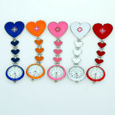 5 Colour choose Angelical Fob Heart Hospital Pin Nurse Doctor Quartz Watch GL13