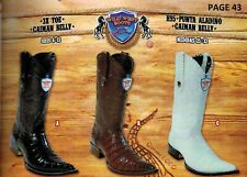 Wild West Men's XXX-Toe Caiman Belly Cowboy Western Boots Diff. Colors