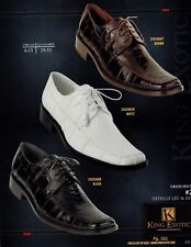 King Exotic Men's #2 Ostrich Leg/Eel Lace Up Oxford Dress Shoes