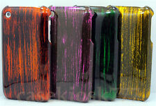 for iphone 3g 3gs hard back case cover black gold purple orange green//