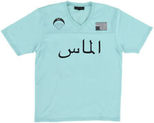 Black Scale Jersey Shirt Short Sleeve Mens Top Turquoise BLVCK SCVLE M-2XL