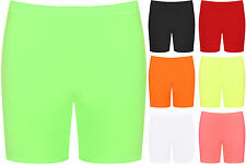 New Womens Plus Size Stretch Elasticated Plain Ladies Hot Pants Shorts
