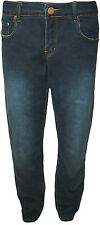 New Womens Plus Size Blue Stretch Zip Trousers Ladies Skinny Fit Jeans