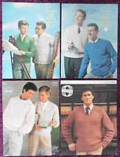 Sirdar Knitting Patterns Mens Sweaters Cardigans - Choose from Drop-down Menu