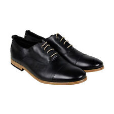 Clarks Chinley Cap Mens Black Leather Casual Dress Lace Up Oxfords Shoes