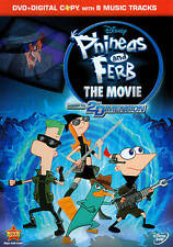 Phineas and Ferb: The Movie - Across the 2nd Dimension DVD + digital copy