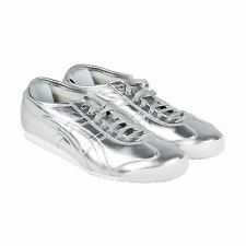 Onitsuka Tiger Mexico 66 Mens Silver Synthetic Lace Up Sneakers Shoes