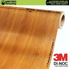 3M DI-NOC LIGHT CHERRY TEAK WOOD Grain Vinyl Wrap Sheet Film Sticker Roll