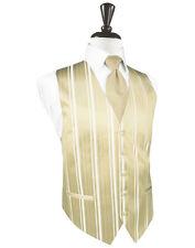 New Mens Bamboo Striped Tuxedo Vest Tie Set Formal Wedding Groom Prom All Size