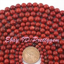 6,8,10mm Natural Faceted Round Shape Jasper Gemstone Beads Spacer Strand 15""