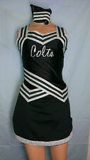 Cheerleader Uniform Fancy Black Metallic attached long sleeve Halloween Costume