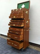 DAMAGED (DI 430)US Pro Tools Wooden Tool Box Chest Wood Cabinet Engineer