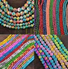 Lots Wholesale Round Loose Spacer Glass Colorized Beads 6mm 8mm 10mm 12mm Bulk