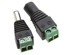 2~20X DC Connector Power Jack Adapter Plug Male Female 2.1x5.5mm CCTV Camera MO