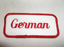 GERMAN USED EMBROIDERED VINTAGE SEW ON NAME PATCH TAGS ASSORTED COLORS