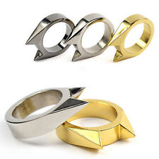 EDC Self Defence Stainless Steel Ring Finger Defense Ring Tool Survival Gear  MO