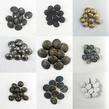 10 x Plastic & Metal MILITARY SHANK BUTTONS - Sewing - Coat of Arms