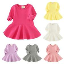 Toddler Baby Girl Kid Autumn Clothes Long Sleeve Party Top Ruffle Princess Dress