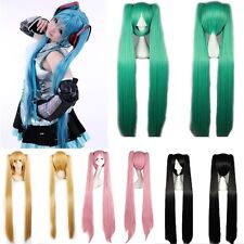 Green Blue White Pink Vocaloid Hatsune Miku Cosplay Wig Fancy Dress Party Hair J