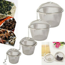 Stainless Steel Mesh Ball Tea Leaf Strainer Infuser Filter Diffuser MO