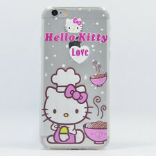 """Hello Kitty Case Ultra Thin Soft Cover Transparent Clear Silicone Skin """"Noodles"""""""