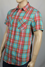 Ralph Lauren Denim Supply Red Teal Blue Plaid Custom Dress Shirt Pockets NWT