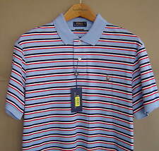 NWT $90 POLO RALPH LAUREN Mens M L XL STRIPED PIMA SOFT TOUCH SHIRT Austin Blue