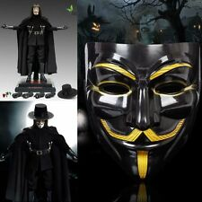 Halloween's V for Vendetta Mask Anonymous Guy Fawkes Fancy Dress Adult Costume
