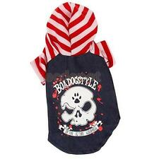 Pet Dog Puppy Punk Skull Pattern T Shirt Hoodies outfit Coat Clothes Apparel New