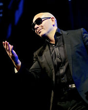 Pitbull in Concert Dressed in Black Poster or Photo