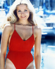 Priscilla Barnes Stunning Color Poster or Photo in Red Swimsuit