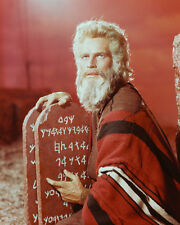 The Ten Commandments Color Poster or Photo Charlton Heston as Moses with Tablet