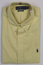 Ralph Lauren Yellow Blue White Plaid Custom Dress Shirt NWT