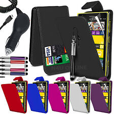 Pu Leather Flip Case Cover, Lcd Film, Pen & in Car Charger for Nokia Lumia 1520