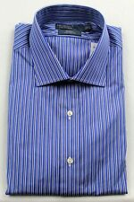 Polo Ralph Lauren Blue Navy Stripe Regent Custom Dress Shirt NWT