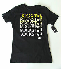 "ROCKSTAR ENERGY ""PICASSA"" LADIES/WOMENS T SHIRT S(8),M(10),L(12) ONE INDUSTRIES"